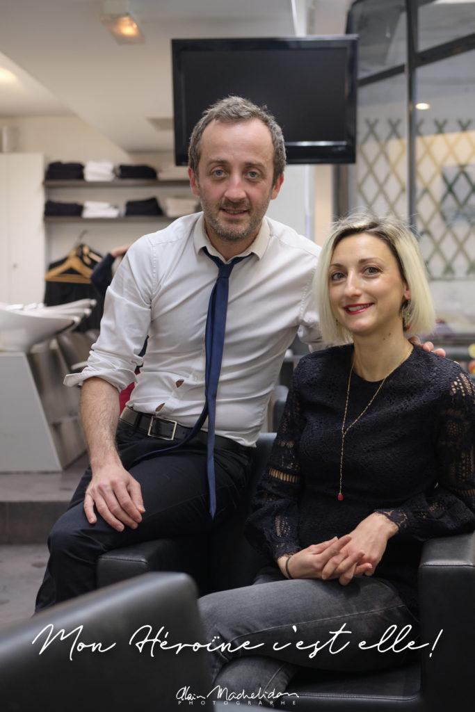 Jean-Michel Carreras et Berengere Sire - Salon de coiffure Carreras